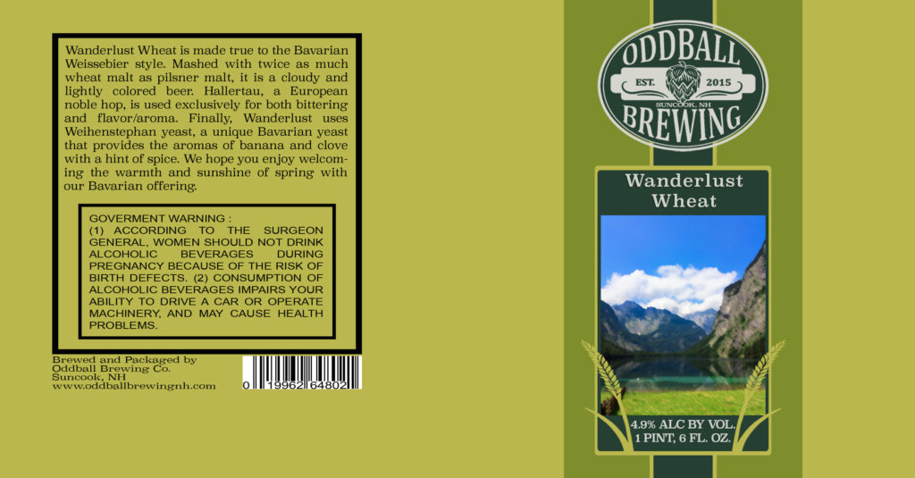 Oddball Brewing - Wanderlust Wheat